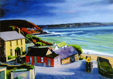 Myrtleville,Kerry, Collins,Art, prints, Myrtleville, Cork, Ireland, seascene, beach, holidsys