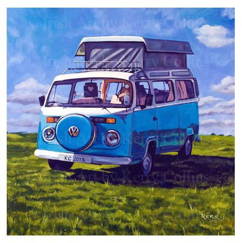 Magical,Mystery,Tour,Kerry, Collins, Art, prints, VW, Kombi, campervan, vintage, retro, holidays