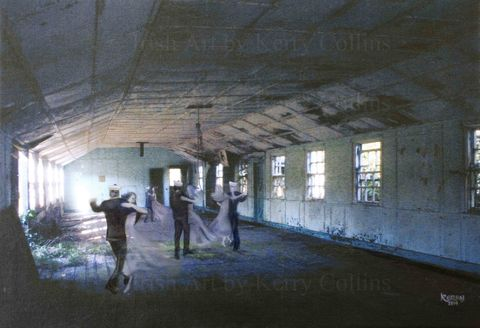 The,Dance,Hall,(at,Camden,Fort,Meagher),Kerry, Collins, Art, prints, Romance, haunting, historical, heritage, Ireland, fort