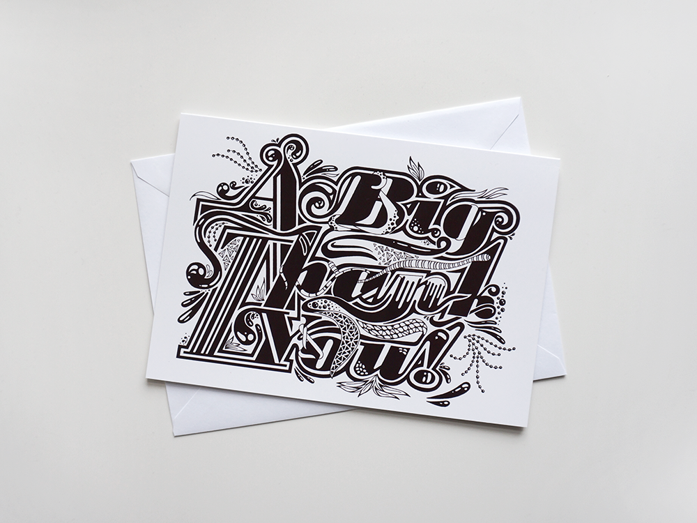 Thank You Card: Mono - product images  of