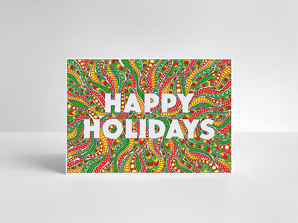 Happy Holidays Cards Pack - product image