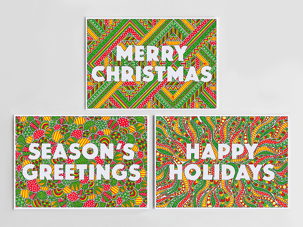 Happy Holidays Cards Pack - product images  of