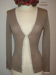 Now 75% Off!! Our Petite Scallop Lace Cardigan - product images 6 of 8