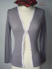 Now 75% Off!! Our Petite Scallop Lace Cardigan - product images 8 of 8