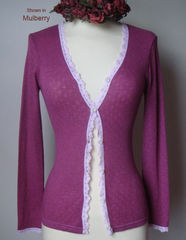 Now 75% Off!! Our Petite Scallop Lace Cardigan - product images 5 of 8