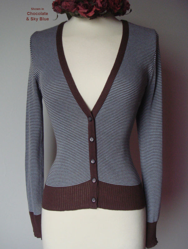 Flash Sale Over 80% Off! Our Cotton Microstripe V Cardigan - product image