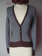 Now 70% Off! Our Cotton Microstripe V Cardigan - product images 3 of 7