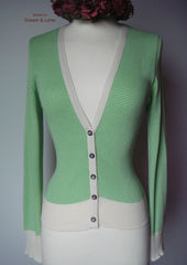 Now 70% Off! Our Cotton Microstripe V Cardigan - product images 7 of 7