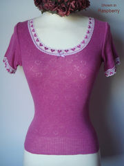 NOW 60% Off!! Our Heart Lace Short Sleeve Short Style Top - product images 2 of 3