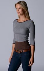Wow 60% Off! Our Cotton Microstripe High Rib Top - product images 2 of 6