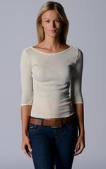 Wow 60% Off! Our Cotton Microstripe High Rib Top - product images 1 of 6