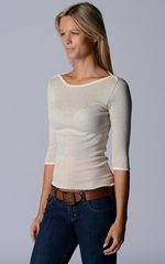 Wow 60% Off! Our Cotton Microstripe High Rib Top - product images 4 of 6