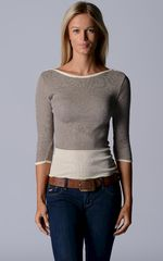 Wow 60% Off! Our Cotton Microstripe High Rib Top - product images  of