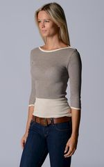 Wow 60% Off! Our Cotton Microstripe High Rib Top - product images 6 of 6