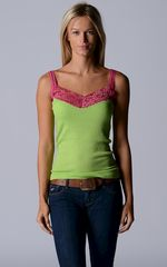 NOW 40% OFF! Our Fuchsia Wide Lace Camisole - product images 1 of 2