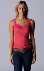 NOW 40% OFF & MORE COLOURS!! In Our Fuchsia Wide Lace Camisole - product images 1 of 5