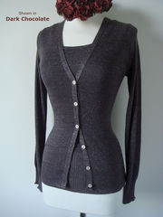 More than 50% Off !!... Our Sparkle Knit Tank Top & Cardigan - product images 1 of 3