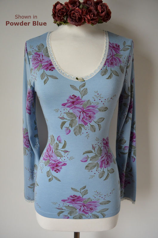 Now 70% Off !!...Our Vintage Rose Print Long Sleeve Top - product image