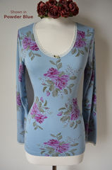 Now 70% Off !!...Our Vintage Rose Print Long Sleeve Top - product images 3 of 3
