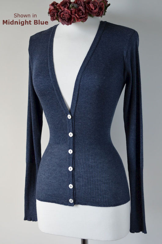 New High Rib Pointelle Cardigan - product image