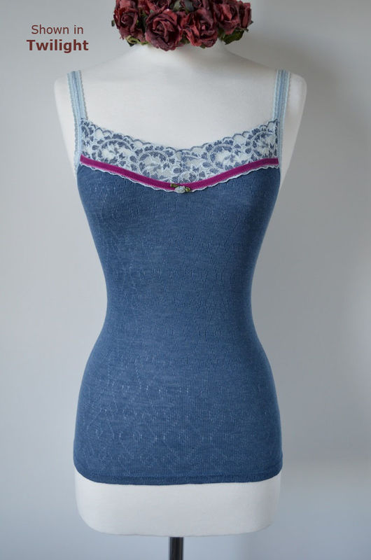 Even More Colours In Our Fuchsia Velvet and Lace Twinset - product image