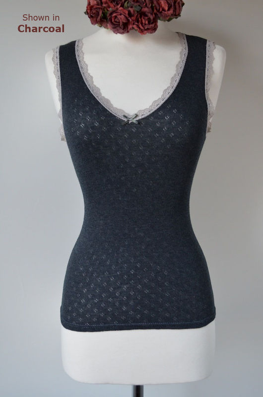Wow 70% Off!!  Our Scallop Lace Tank Top - product image