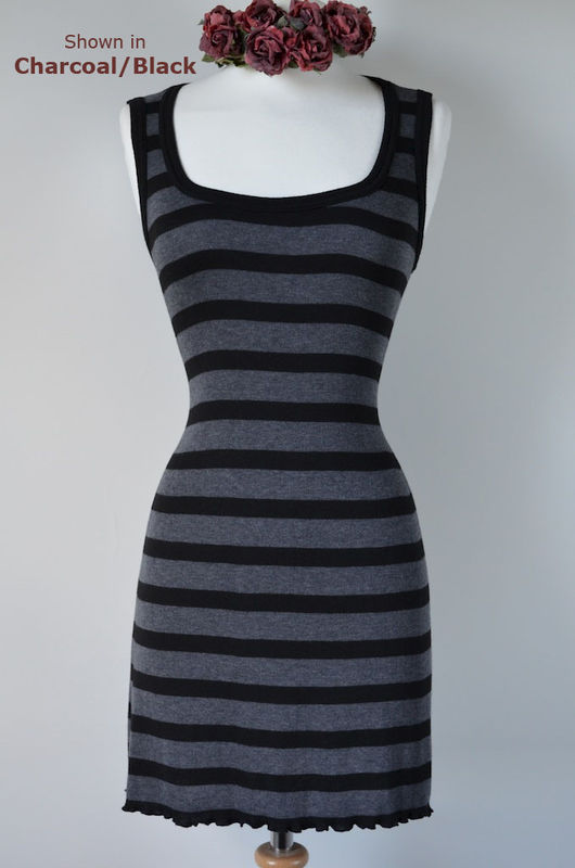Wow 60% Off! New Colours in our Black Wide Stripe Sleeveless Tunic - product image
