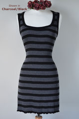 Wow 60% Off! New Colours in our Black Wide Stripe Sleeveless Tunic - product images 3 of 3