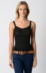 Now 30% Off!! Our Classic Black Wide Lace Camisole - product images 1 of 2