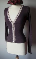NOW 60% OFF!! Our Classic Heart Lace Short Style V Cardigan - product images  of