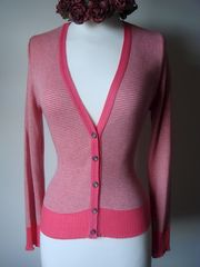 Now 70% Off! Our Cotton Microstripe V Cardigan - product images 5 of 7