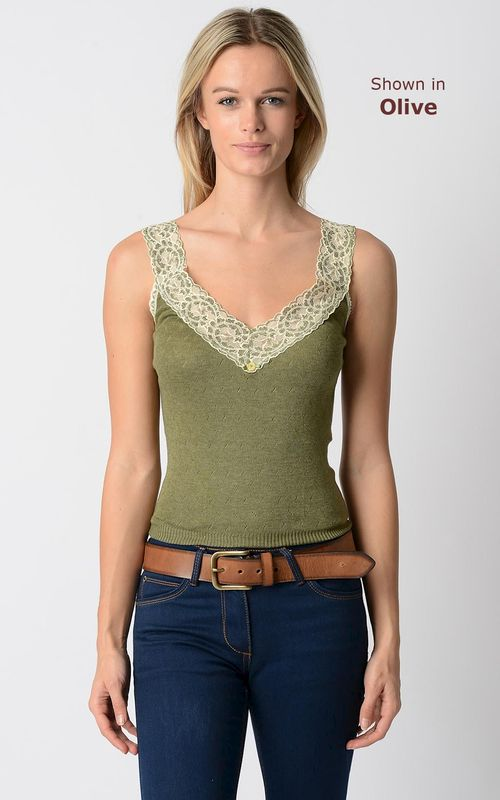 WOW 60% Off!! Our Classic Wide Lace Wide Strap Camisole - product image