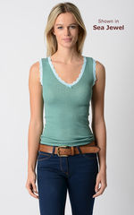 Wow 70% Off! Our Scallop Lace Tank Top - product images 1 of 6