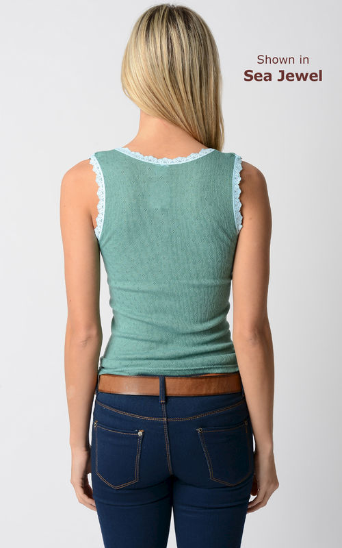 Wow 70% Off! Our Scallop Lace Tank Top - product image