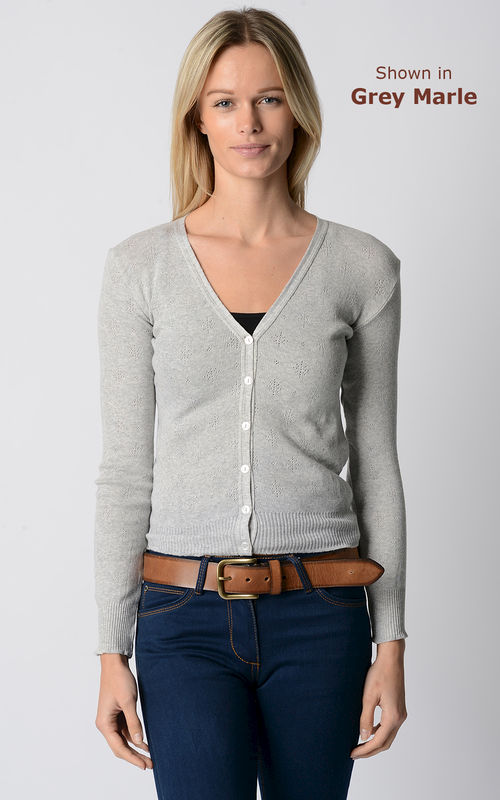 An Unmissable 70% Off!! Our Cotton Pointelle V Cardigan - product image