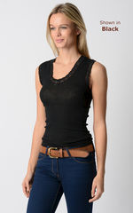More than 60% Off !! Our Cute Heart Lace Sleeveless Vest - product images 2 of 3