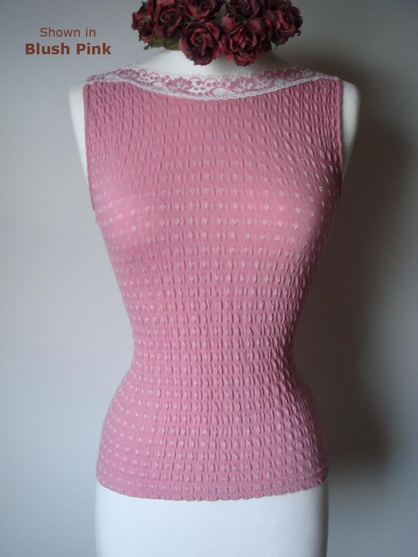 75% Off New Pretty Pastels!! in Our Cotton Heart Knit Sleeveless Top - product image