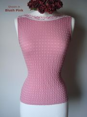 75% Off New Pretty Pastels!! in Our Cotton Heart Knit Sleeveless Top - product images 1 of 2