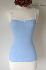 Wow 70% Off!! ..More New Colours in Our Cotton & Lace Camisole - product images 1 of 2