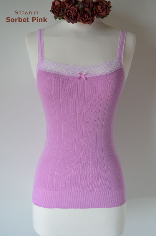 Wow 70% Off!! ..More New Colours in Our Cotton & Lace Camisole - product image