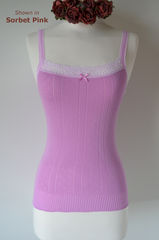 Wow 70% Off!! ..More New Colours in Our Cotton & Lace Camisole - product images 2 of 2