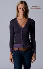 More Colours in Our Black Microstripe Cardigan - product images 3 of 4