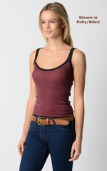 Our Black Microstripe and Lace Camisole - product images 4 of 4