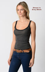 Our Black Microstripe and Lace Camisole - product images 2 of 4
