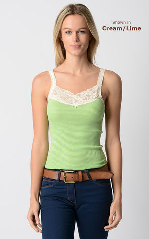 Now,80%,Off!,Our,Cotton,Microstripe,Lace,Camisole, Lace Trim Camisole, Lace Camisole, Cotton Camisole, Stripe, Camisole, Palace, Palace London Clothing, Palace Camisole, Palace London, Palace Lace Camisole