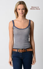 Wow 55% Off! Our Navy Microstripe & Lace Camisole - product images 1 of 8