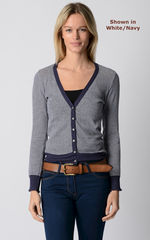 Our Stylish Navy Microstripe Cardigan - product images 7 of 8