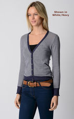 Our Stylish Navy Microstripe Cardigan - product images 8 of 8