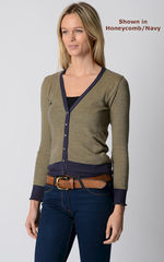 Our Stylish Navy Microstripe Cardigan - product images 6 of 8