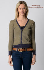 Our Stylish Navy Microstripe Cardigan - product images 5 of 8